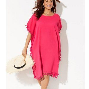 Swimsuits For All Everly Pom Pom Coverup Caftan